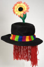 Clown Hat with Red Hair & Flower