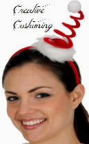 Mini Spring Santa Hat on Headband