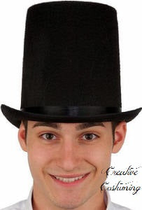 Lincoln Stovepipe Top Hat - Felt