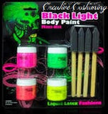 Latex Liquid Black Light  Body Paint Mini-Kit