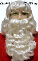 Dlx Santa Claus Wig & Beard Set with XL Wig Size L002EX
