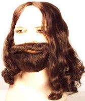 John Lennon/George Harrison  Style Wig  Biblical Wig, Beard & Mustache Set  Discount Version