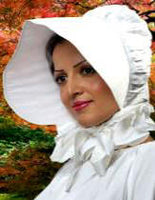 Pioneer or Medieval Bonnet - Cotton