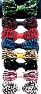 Deluxe Sequin Bow Tie  w/Elastic Neck Band