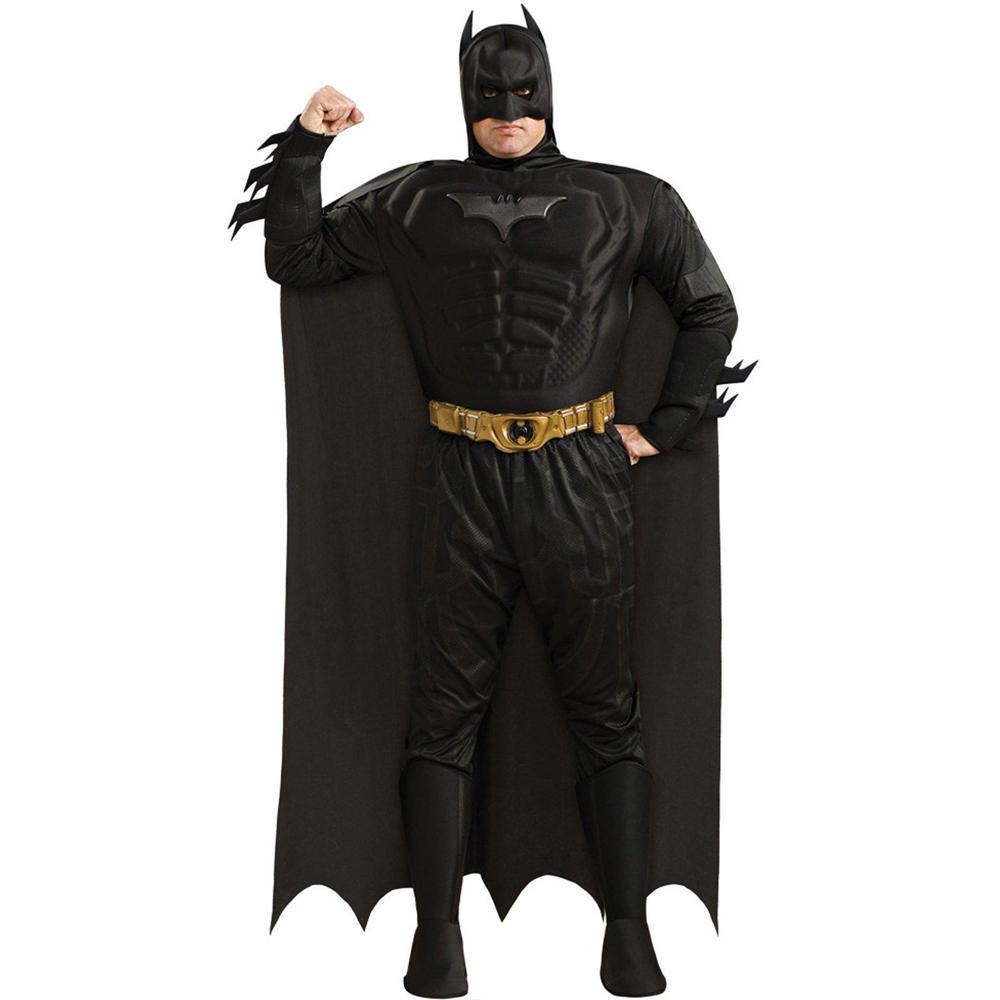 """The Dark Knight"" Muscle Chest Batman Costume- Adult Plus Size"