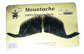 100% Human Hair Colonel Major Character Moustache