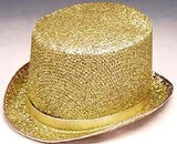 "Glitter Top Hat Tinsel 6"" High"