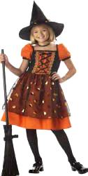 Child Pretty Pumpkin Witch Costume