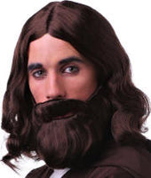 Jesus Christ Set  Wig & Beard w/attached Mustache Set