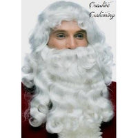 Santa Claus Loose Curl Beard & Wig Set