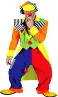 Spanky Stripes Clown Costume Man