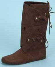 Woman's Renaissance, Medieval,  Native American Indian or  Mountain Woman Side Lace Boot