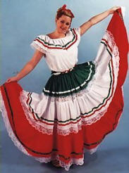 Deluxe Mexican or  Spanish Dancer Costume