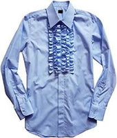 Ruffled Tuxedo Shirt / Dumb and Dumber Shirt / Retro 1970's Shirt
