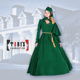 Old South Green Curtain Dress (Scarlett's Drapes)