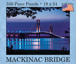 Mackinac Bridge Deep Purple Puzzle