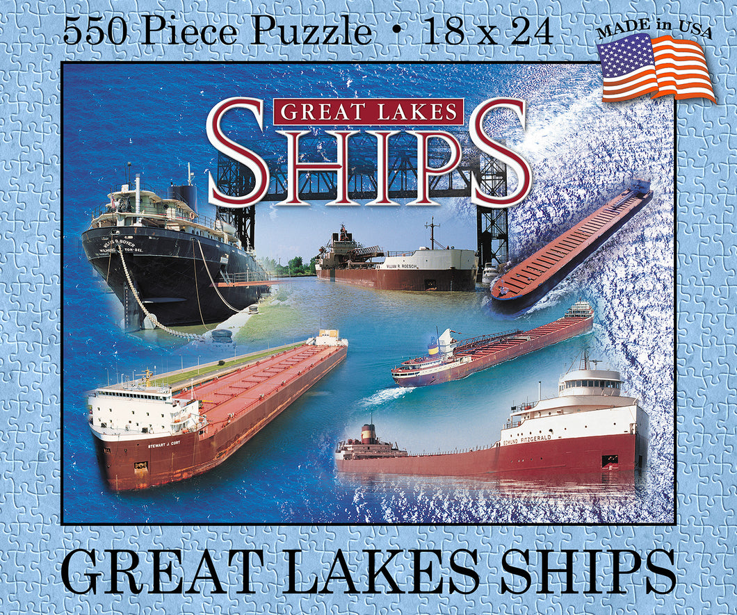 Great Lakes Ships Puzzle (USA Made) - 1071924241