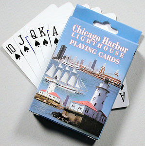 Playing Cards - Chicago Harbor Lighthouse - 1071924187