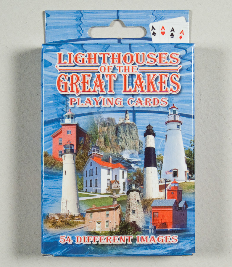 Playing Cards -54 View - Lighthouses of the Great Lakes - 1071924214
