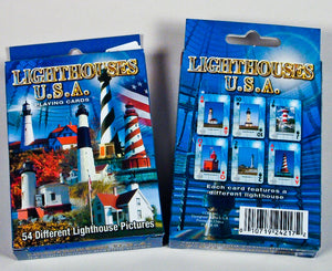 Playing Cards - 54 View - American Lighthouses - 1071924217