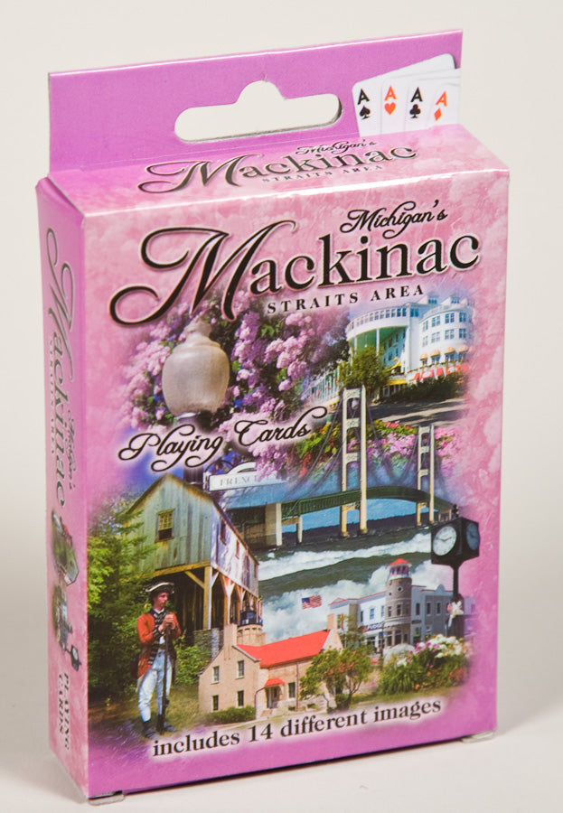 Playing Cards - 14 View Mackinac - 1071924226