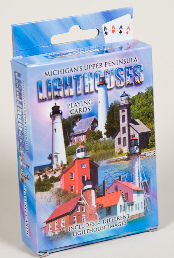 Playing Cards - Upper Peninsula Lighthouses - 1071924227