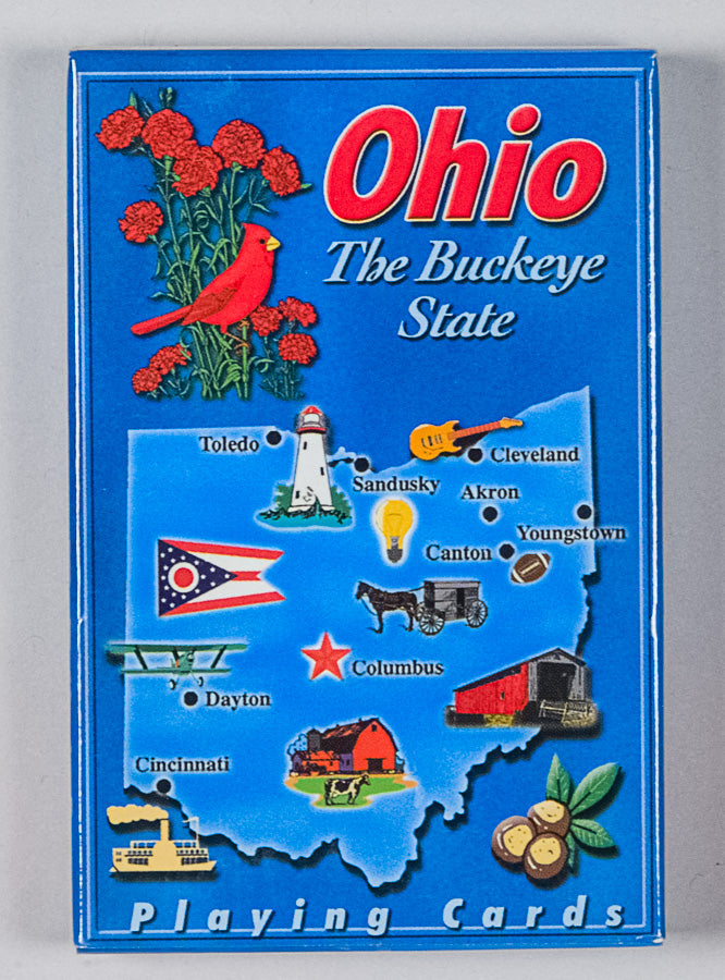 Playing Cards - Ohio Map - 1071924229