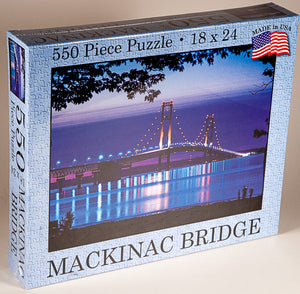 SOLD OUT - Mackinac Bridge Deep Purple Puzzle (USA Made) - 1071924240