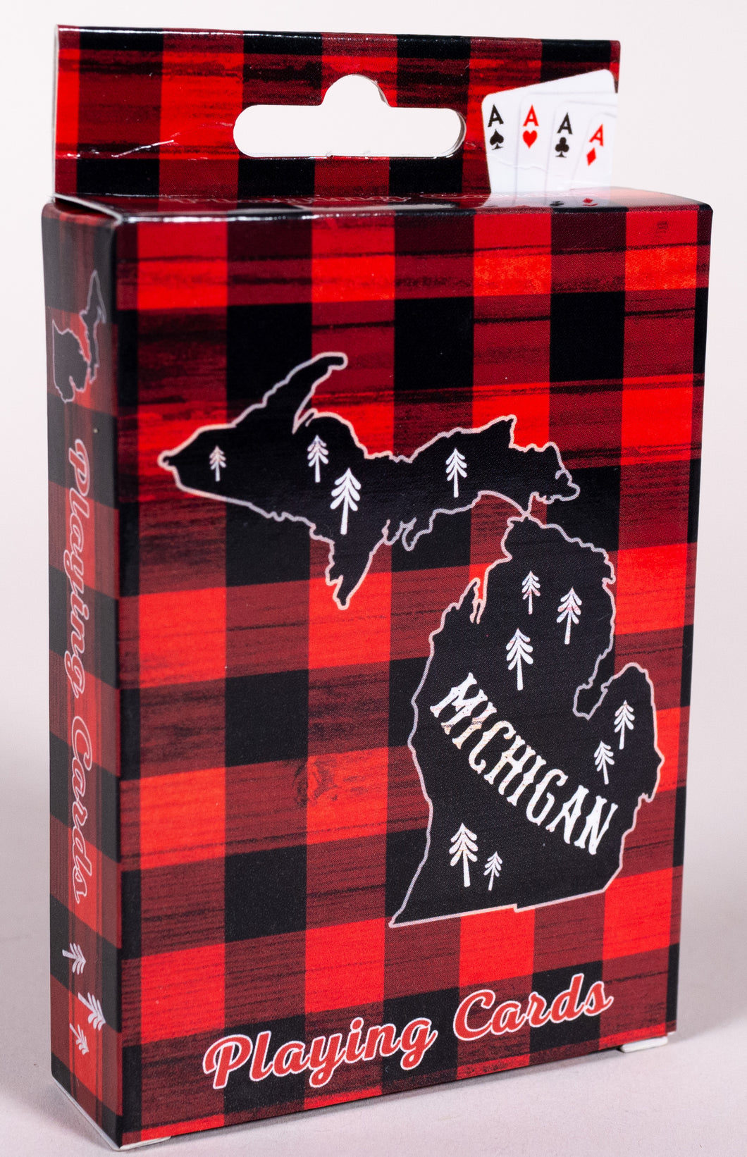 Playing Cards - Michigan Plaid Theme - 1071924248