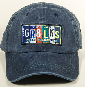 GR8 LKS Michigan Hat - Vintage License Plate - Blue Denim - 1071983001
