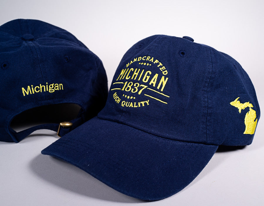 Michigan Hat - 1837 - Blue & Yellow - 1071983005
