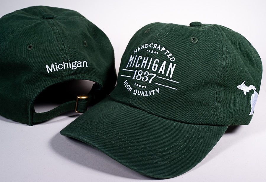 Michigan Hat - 1837 - Green & White