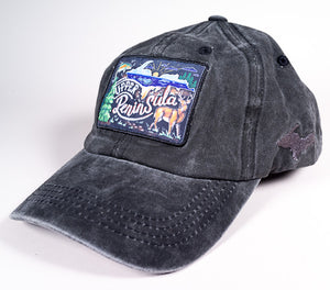 Upper Peninsula Hat - Chalk Art - Black Denim