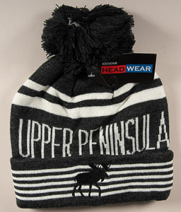 Upper Peninsula Stocking Hat - Moose - Black - 1071983100