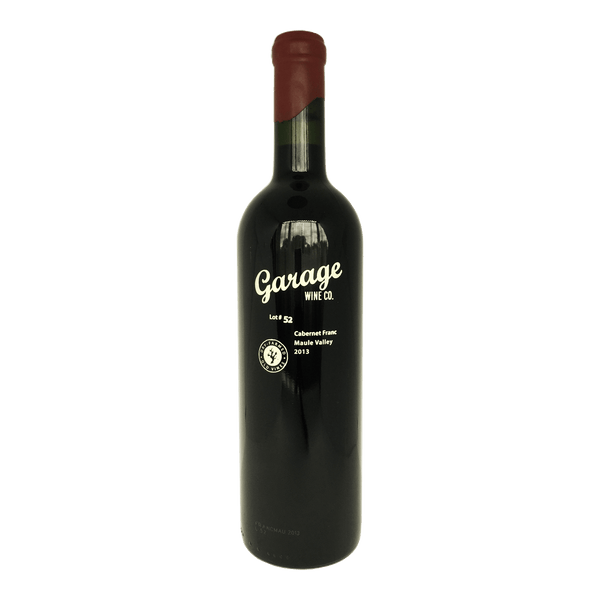Garage Wine Co, Lot 52 Cabernet Franc wine bottle