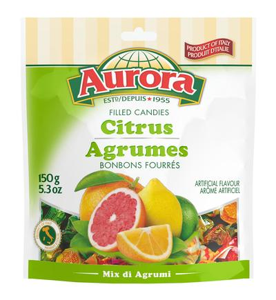 Aurora Hard Candies with Citrus Mix 150g
