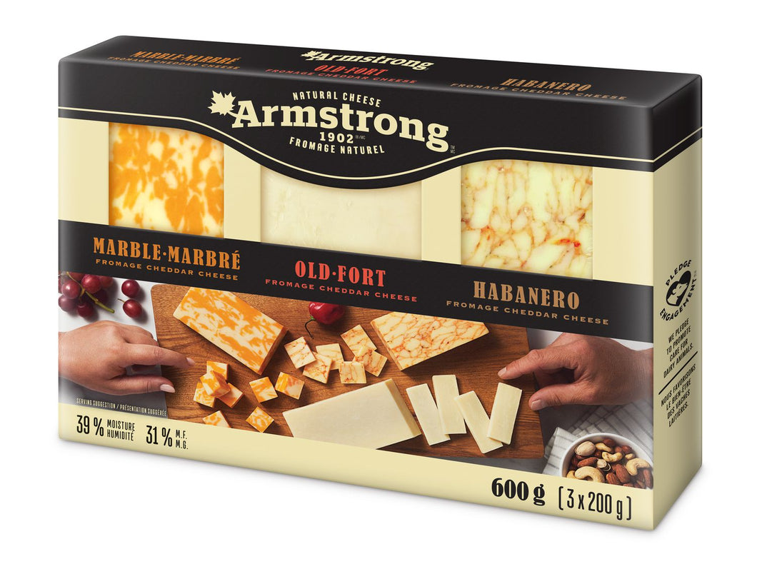 Armstrong Marble & Old-Fort & Habanero Cheese 600g (3x200g)
