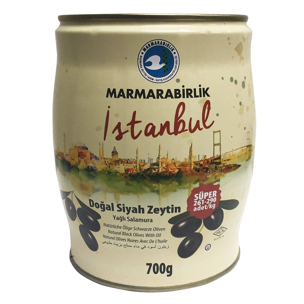 Natural Black Olives in Oil- 700gr  - Turkish Mart