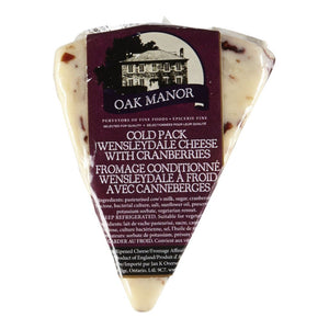 Oak Manor Wensleydale Cheese with Cranberries - 200g