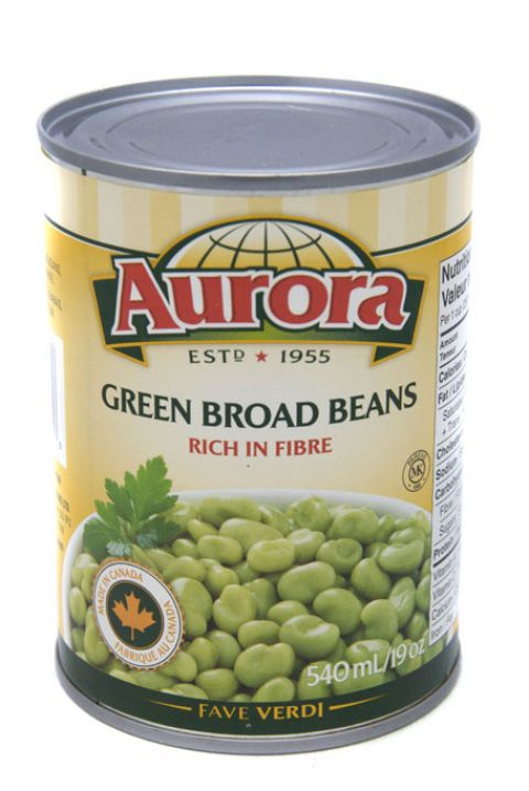Aurora Green Broad Beans 540ml