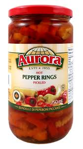 Aurora Hot Pepper Rings 750ml
