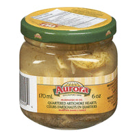 Aurora Marinated Quartered Artichoke Hearts 170ml