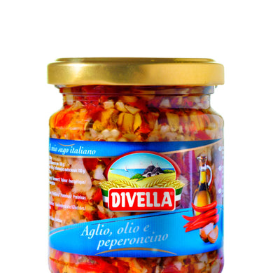 Divella Garlic And Chili Peppers Sauce 190ml
