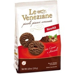 Le Veneziane Biscuits With Cocoa And Hazelnuts 250gr