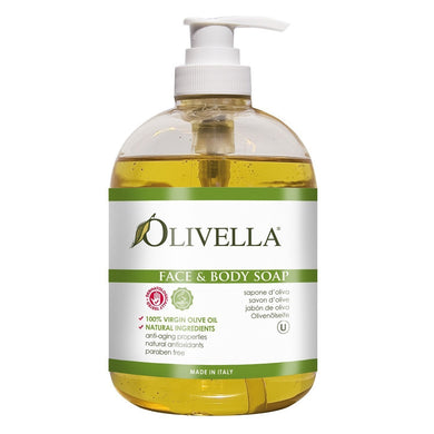 Olivella Face And Body Soap With Olive Oil 500ml