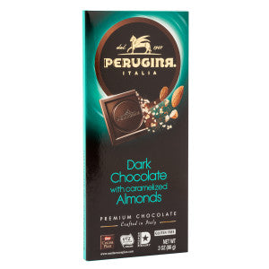 "Perugina Premium Dark Chocolate ""With Almonds"" - 86gr - GLUTEN FREE"