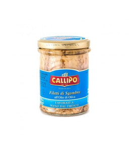 "Callipo Fillets of Mackerel in ""Olive Oil"" - 150g - GLASS"