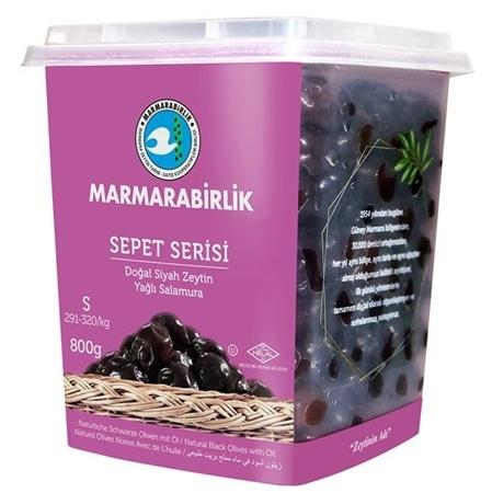 Natural Black Olives with Oil 800g - Turkish Mart
