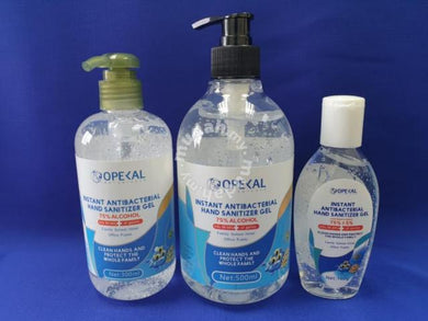 Opekal Instant Antibacterial Hand Sanitizer Gel (75% alcohol)  - 100ml  /  300ml  / 500ml  /  1000ml  variations