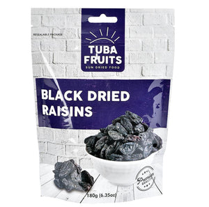 Tuba Black Dried Raisins 180g (6.35oz) - Turkish Mart